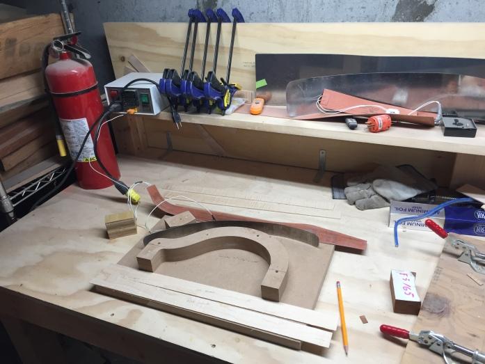 Rim bending station